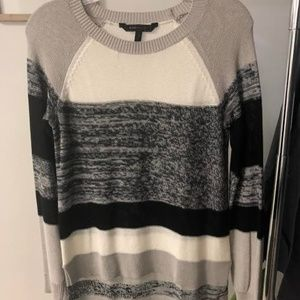 BCBGMaxAzria Striped High-Low Sweater